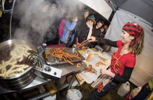 making churros is a festival in itself